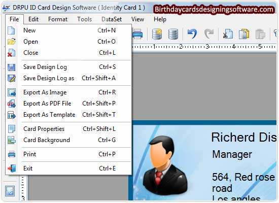 Screenshot of ID Cards Designing Software
