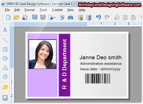 ID cards designing software screenshots identity card ...
